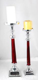 Red Enamel Candelholder